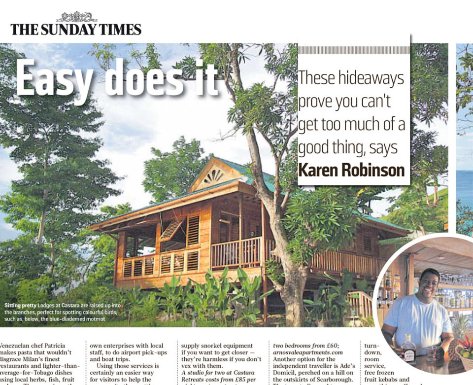 The Sunday Times, May 2014 - Castara Retreats